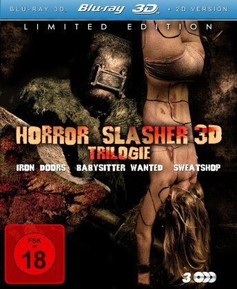 Horror Slasher 3D Trilogie (Limited Edition, 3 Blu-ray 3D (+2D))
