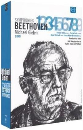 SWR Sinfonieorchester, … - Beethoven - Symphonies Nos. 1-9 (Euro Arts, 3 DVDs)