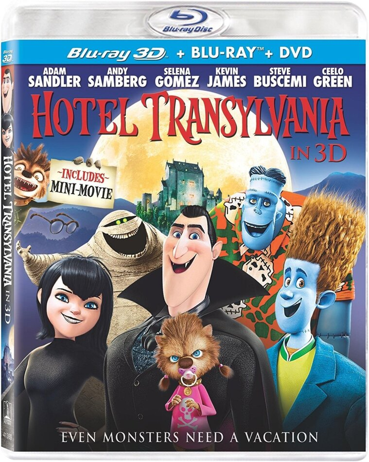 Hotel Transylvania (2012) (Blu-ray 3D (+2D) + Blu-ray + DVD)
