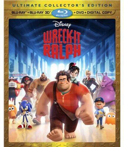 Wreck-It Ralph (2012) (Blu-ray 3D (+2D) + Blu-ray + DVD)
