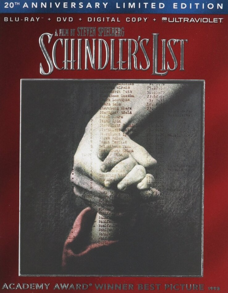 Schindler's List (1993) (20th Anniversary Limited Edition, Blu-ray + DVD)