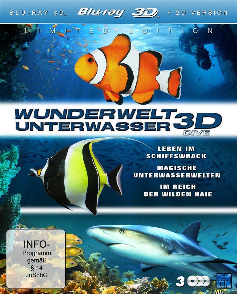 Wunderwelt Unterwasser - Dive (Limited Edition, 3 Blu-ray 3D (+2D))