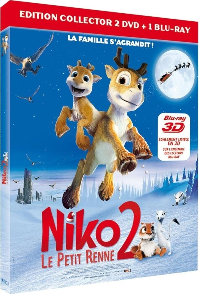 Niko 2 - Le petit renne (Collector's Edition, Blu-ray 3D + Blu-ray + 2 DVDs)