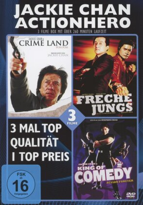 Jackie Chan Actionhero - Crime Land / Freche Jungs / King of Comedy