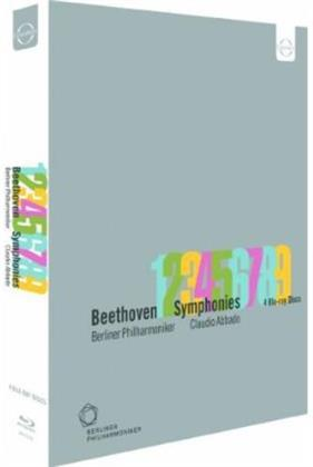 Berliner Philharmoniker, … - Beethoven - Symphonies Nos. 1-9 (Euro Arts, 4 Blu-rays)