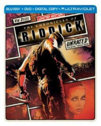 The Chronicles of Riddick (2004) (Limited Edition, Steelbook, Blu-ray + DVD)