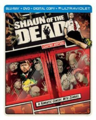 Shaun of the Dead (2004) (Limited Edition, Steelbook, Blu-ray + DVD)