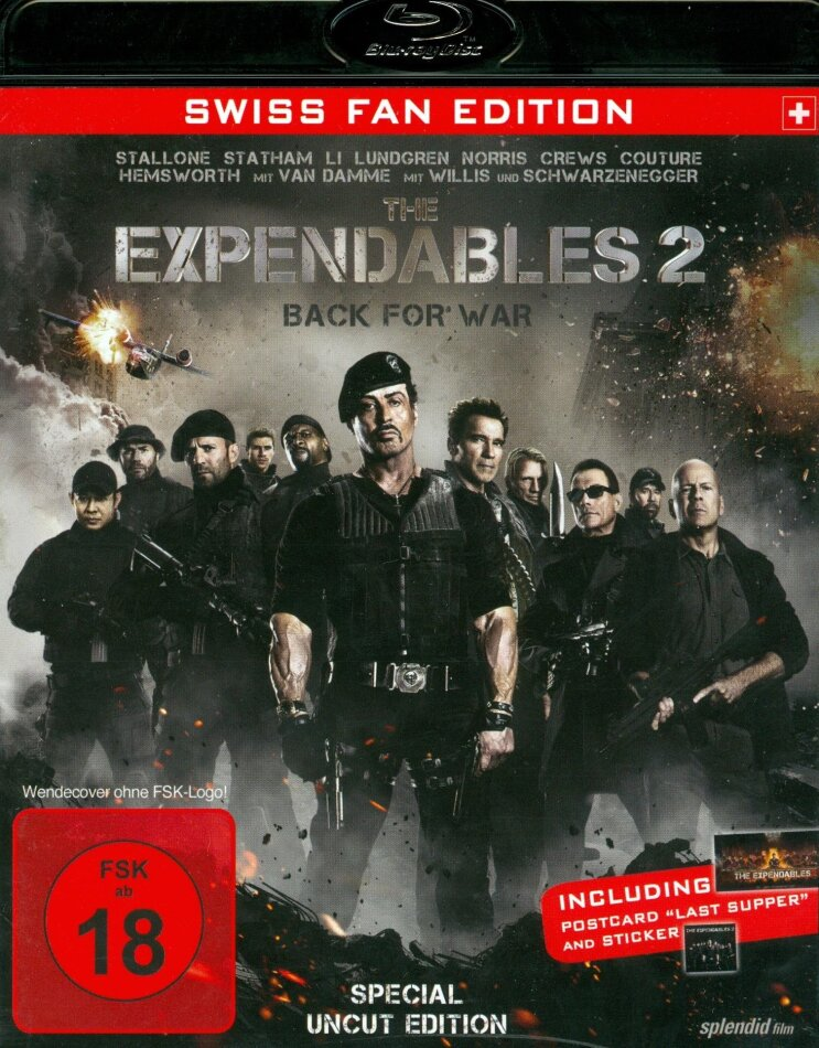 The Expendables 2 - Back for War (2012) (Swiss Fan Edition, Special Uncut Edition)