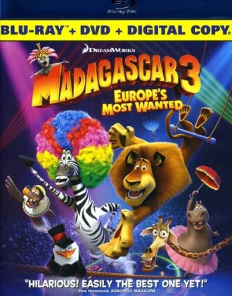 Madagascar 3 - Europe's Most Wanted (2012) (Limited Edition, Blu-ray + DVD)