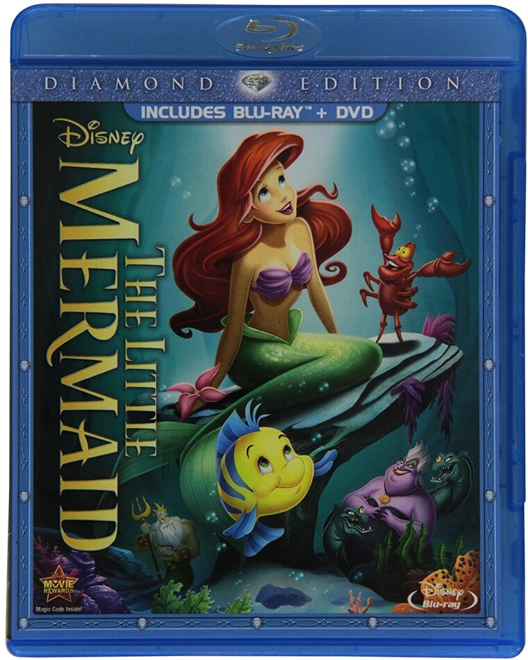 The little Mermaid (1989) (Diamond Edition, Blu-ray + DVD)