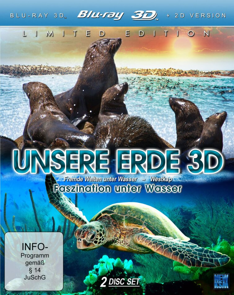 Unsere Erde - Faszination unter Wasser (Blu-ray 3D + Blu-ray)