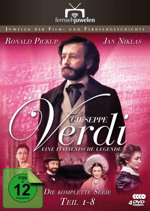 Giuseppe Verdi - Eine italienische Legende - - Die komplette Serie Teil 1-8 (4 DVDs)
