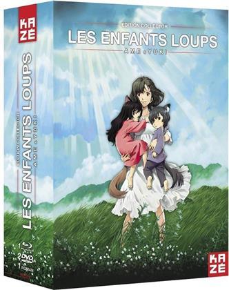 Les Enfants Loups - Ame & Yuki (2012) (Édition Collector, Blu-ray + 2 DVD + Livre)