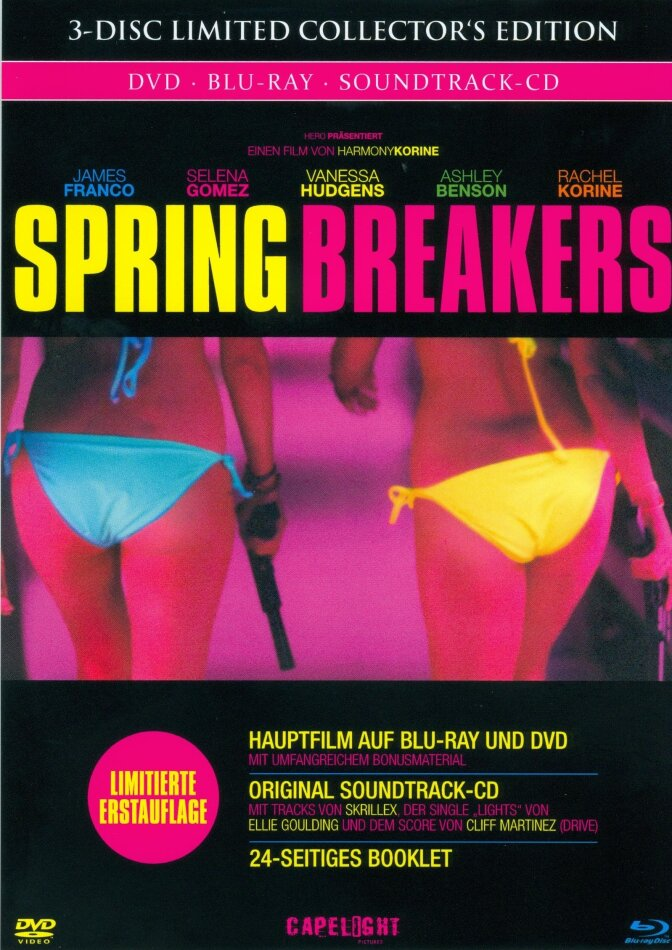 Spring Breakers (2013) (Limited Collector's Edition, Mediabook, Blu-ray + DVD + CD)