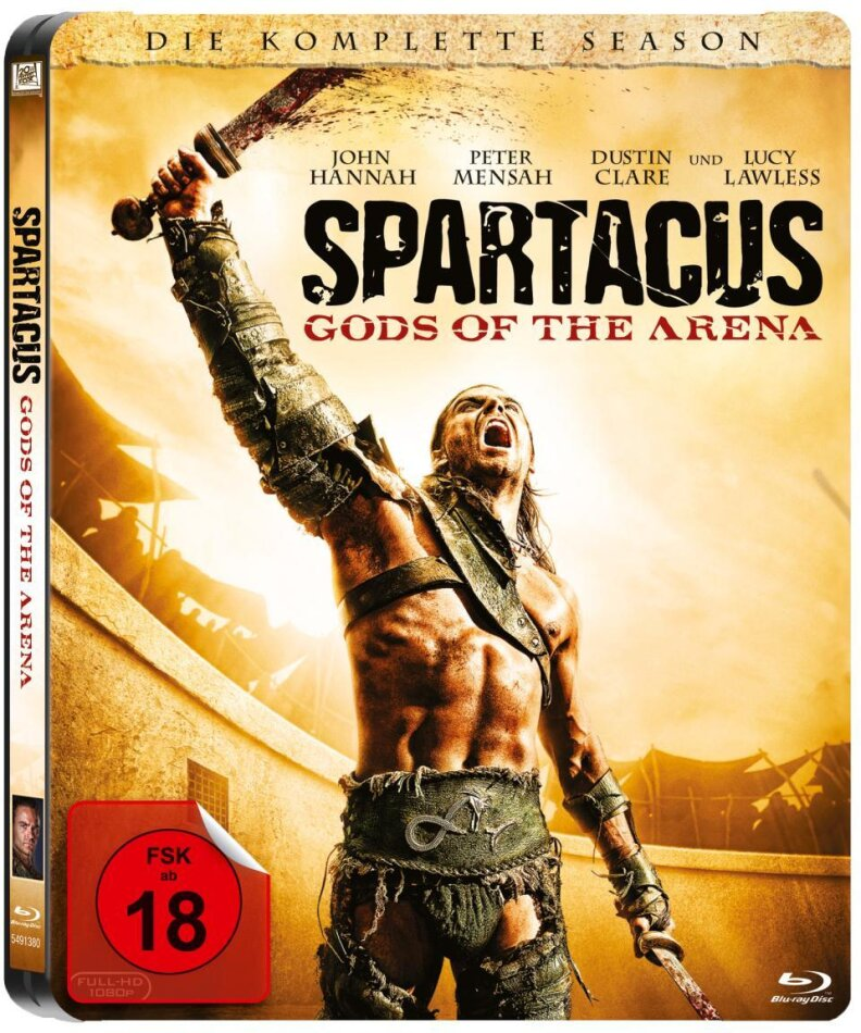 Spartacus: Gods of the Arena - Die komplette Season (2011) (Limited Edition, Steelbook, Uncut, 3 Blu-rays)