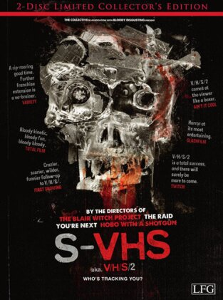 S-VHS - V/H/S 2 (2013) (Limited Collector's Edition, Blu-ray + DVD)