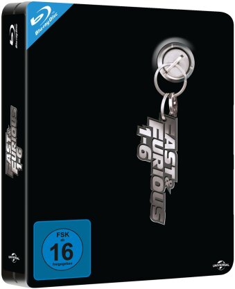 Fast & Furious 1-6 (Limited Edition, Steelbook, 6 Blu-rays)