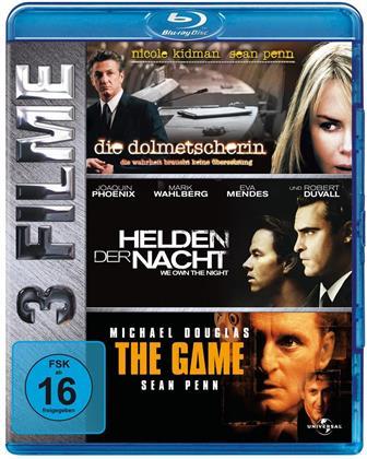 Die Dolmetscherin / Helden der Nacht / The Game (3 Blu-rays)