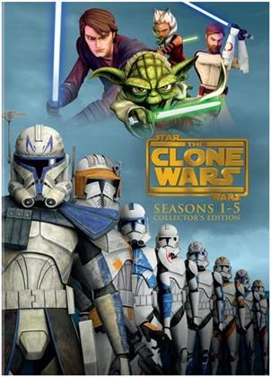Star Wars - The Clone Wars - Seasons 1-5 (Collector's Edition, 19 DVDs)