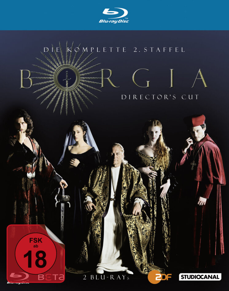 Borgia - Staffel 2 (Director's Cut, 2 Blu-rays)