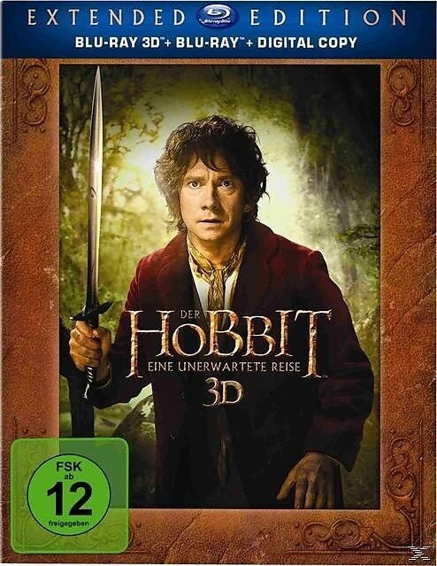 Der Hobbit - Eine unerwartete Reise (2012) (Extended Edition, 5 Blu-ray 3D (+2D))