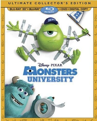 Monsters University (2013) (Ultimate Collector's Edition, Blu-ray 3D + Blu-ray + DVD)