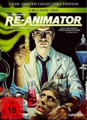 Re-Animator (1985) (Limited Collector's Edition, Mediabook, 2 Blu-rays + DVD)