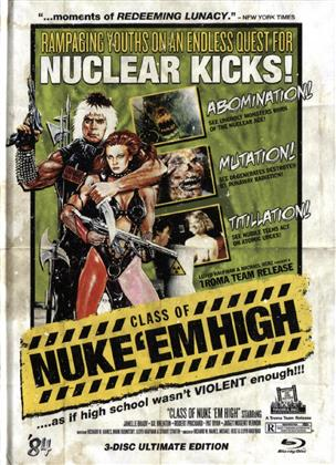 Class of Nuke'Em High (1986) (Limited Edition, Ultimate Edition, Uncut, Blu-ray + 2 DVDs)