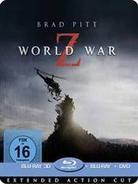 World War Z (2013) - (Extended Action Cut) (2013) (Limited Edition, Steelbook, Blu-ray 3D + Blu-ray + DVD)