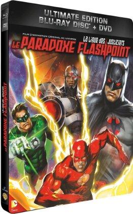 La ligue des justiciers - Le paradoxe Flashpoint (2013) (Steelbook, Blu-ray + DVD)