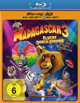 Madagascar 3 - Flucht durch Europa (2012) (Blu-ray 3D + Blu-ray)