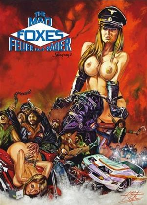 The Mad Foxes - Feuer auf Räder (1981) (Cover B, Limited Edition, Mediabook, Uncut, Blu-ray + DVD)