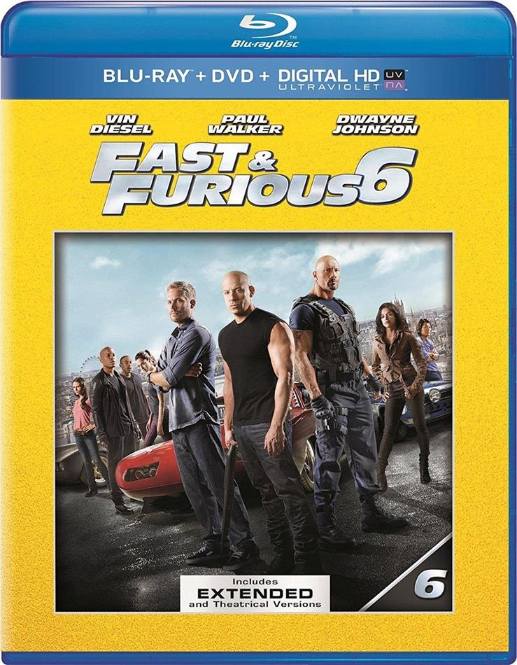 Fast Furious 6 2013 Extended Edition Blu Ray Dvd Cede Com