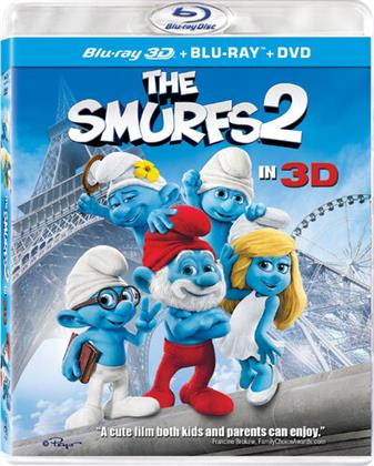 The Smurfs 2 (2013) (Blu-ray 3D (+2D) + Blu-ray + DVD)