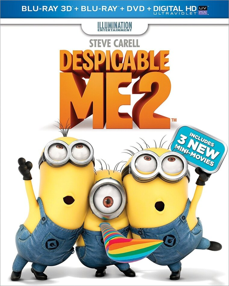 Despicable Me 2 (2013) (Blu-ray 3D (+2D) + Blu-ray + DVD)