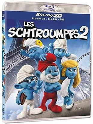 Les Schtroumpfs 2 (2013) (Blu-ray 3D (+2D) + 2 Blu-rays + DVD)