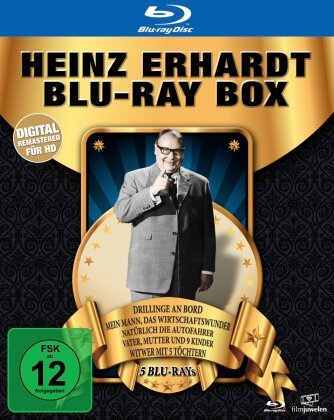 Heinz Erhardt Box (Digital Remastered, 5 Blu-ray)