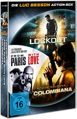 Luc Besson - Action Box - Lockout / From Paris with Love / Colombiana (3 DVDs)