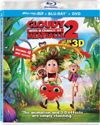 Cloudy with a Chance of Meatballs 2 (2013) (Blu-ray 3D (+2D) + Blu-ray + DVD)
