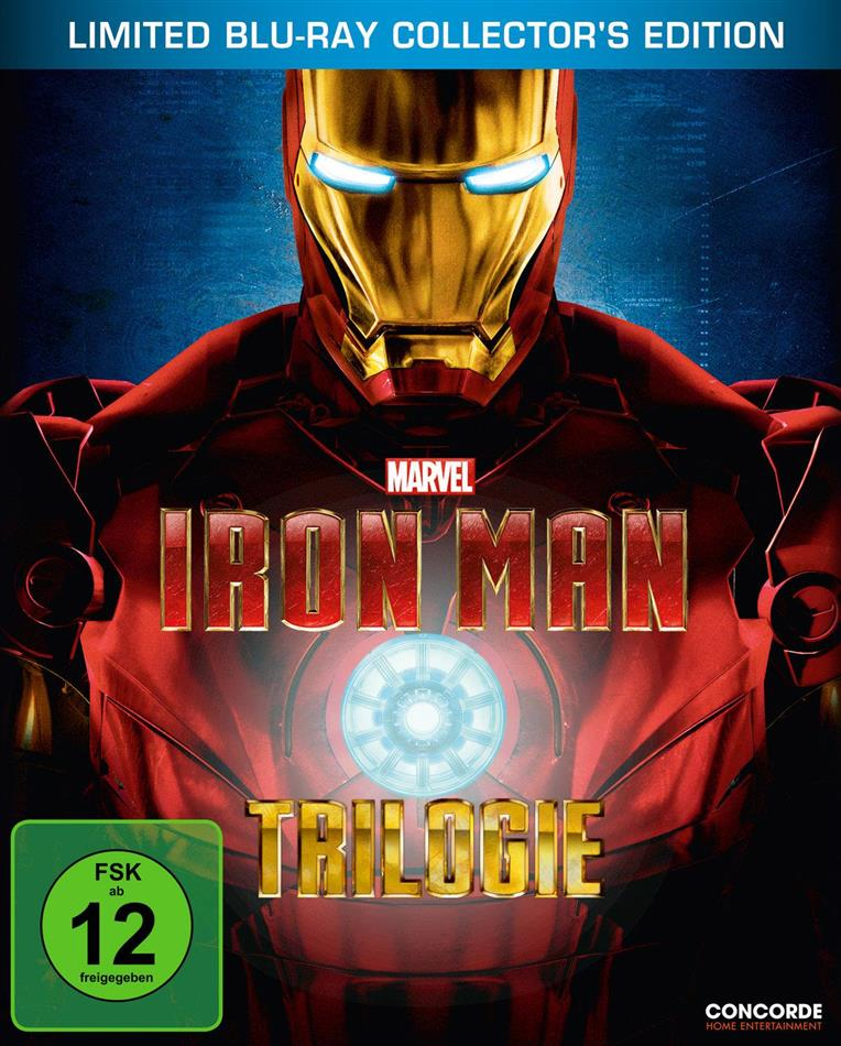 Iron Man Trilogie (Limited Collector's Edition, Steelbook, 3 Blu-rays)
