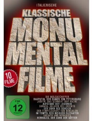 Italienische klassische Monumentalfilme - Rasputin / Soraya / Der Tempelschatz (5 DVDs)