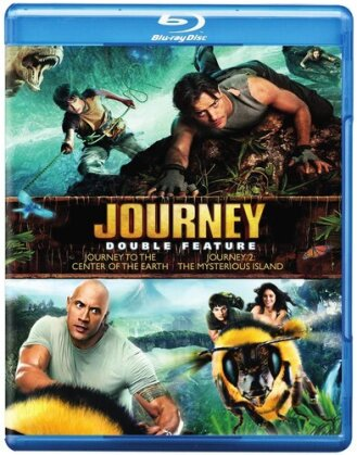 Journey to the Center of the Earth / Journey 2: The Mysterious Island (2 Blu-rays)