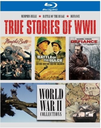 True Stories of WW2 - Memphis Belle / Battle of the Bulge / Defiance (4 Blu-rays)