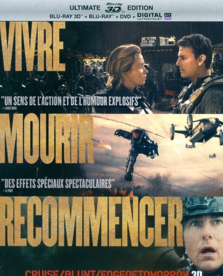 Edge of Tomorrow - Vivre Mourir Recommencer (2014) (2 Blu-ray 3D (+2D))