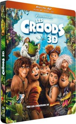 Les Croods (2013) (Steelbook, Blu-ray 3D + Blu-ray + DVD)