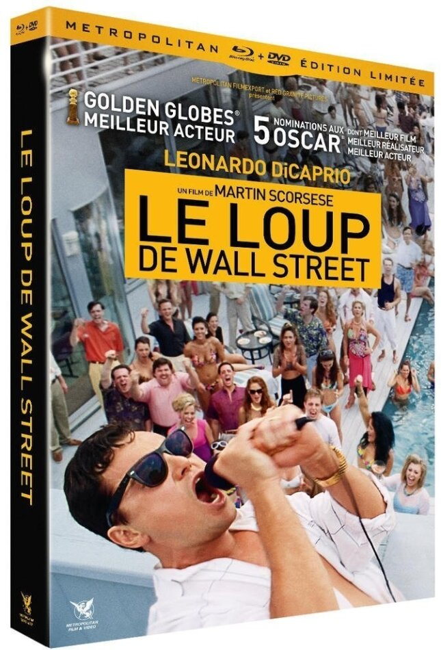Le Loup de Wall Street (2013) (Limited Collector's Edition, Blu-ray + DVD + CD)
