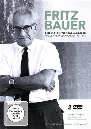 Fritz Bauer - Gespräche, Interviews und Reden aus den Fernseharchiven 1961 - 1968 (s/w, 2 DVDs)