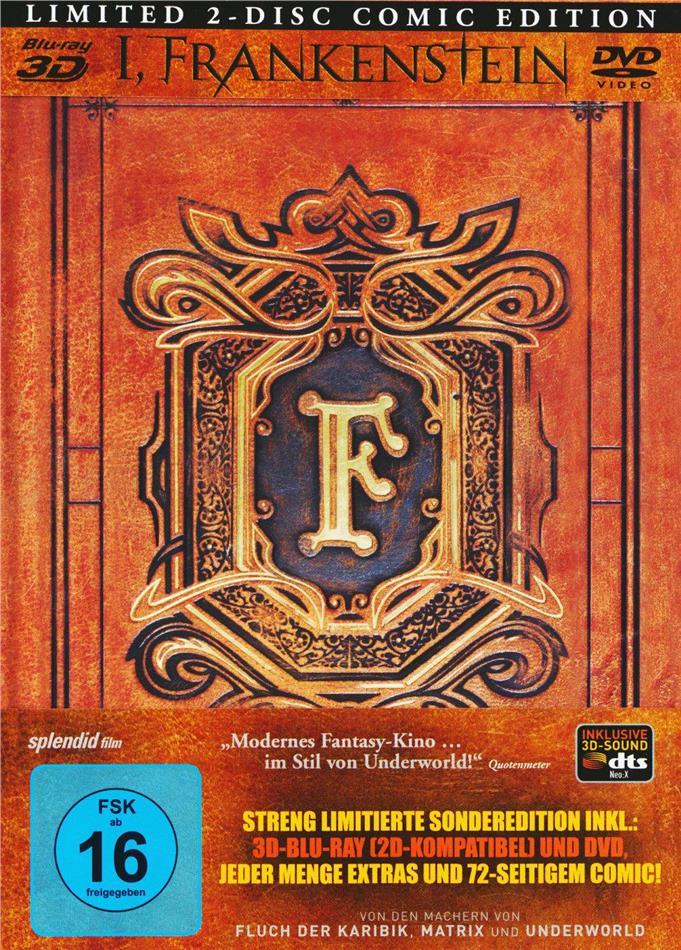 I, Frankenstein (2013) (Edizione Limitata, Mediabook, Blu-ray 3D (+2D) + DVD)