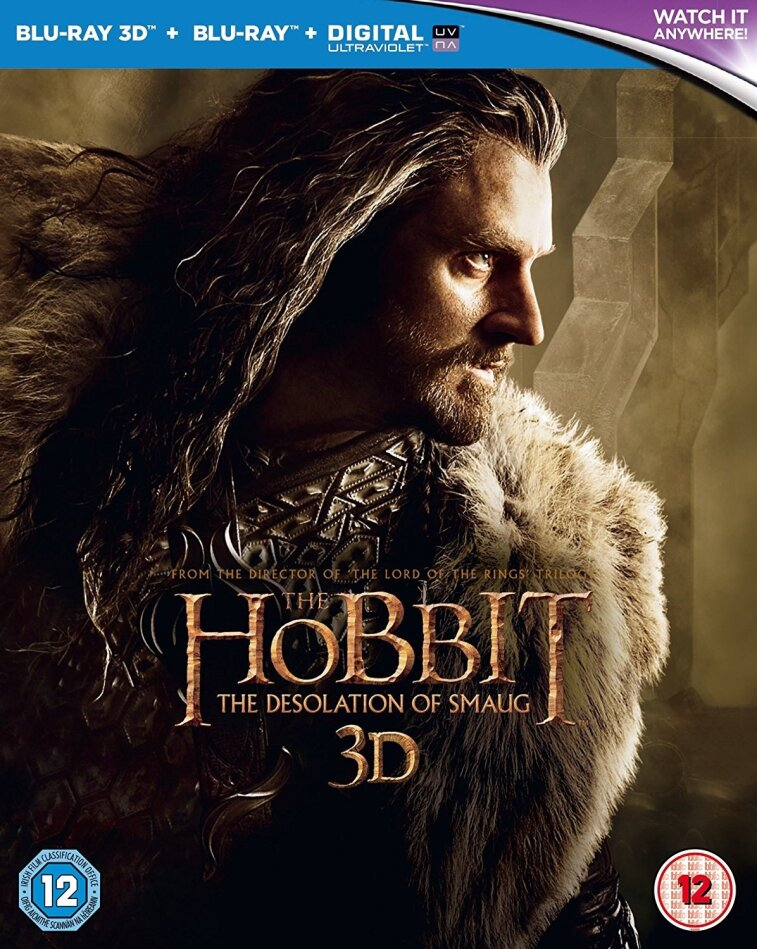 The Hobbit 2 3D- The Desolation of Smaug (2013) (4 Blu-ray 3D (+2D))