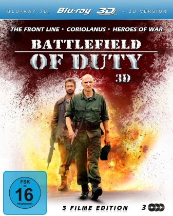 Battlefield of Duty - The Front Line/Coriolanus/Heroes of War (3 Filme Edition - Real 3D + 2D /3 Discs)